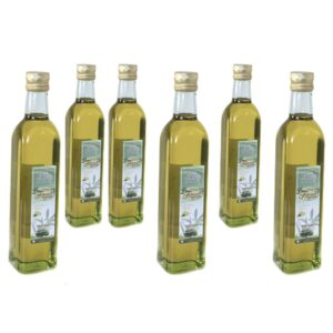 6 bottiglie da 1 lt di olio di oliva evo al limone