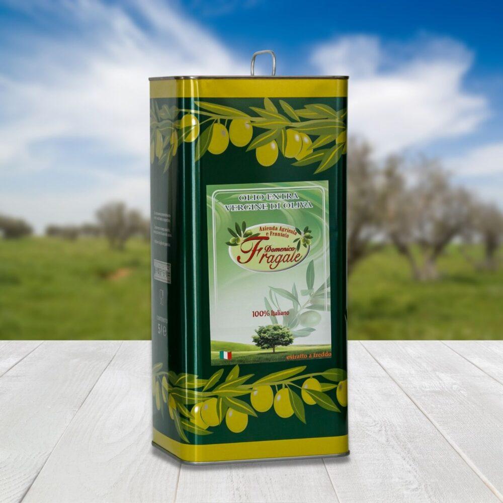 lattina 5 lt di olio extra vergine di oliva monocultivar