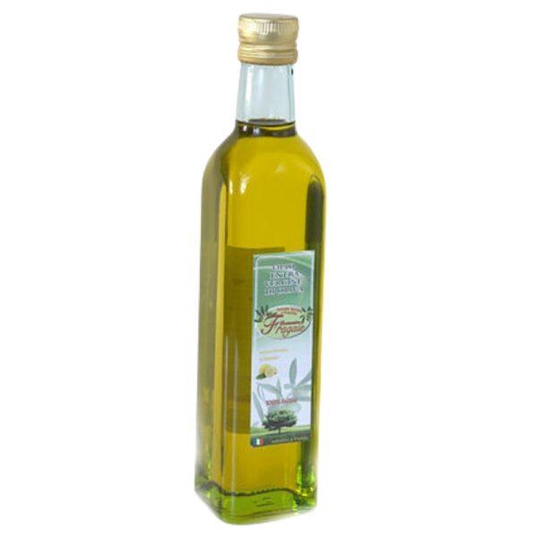 bottiglia da 1lt di olio evo monocultivar al limone