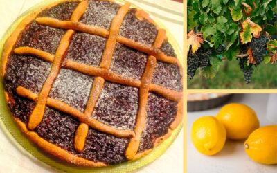 La crostata di Maria: uva a fragola e olio al Limone